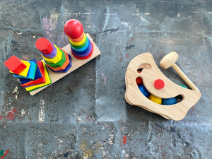 Montesorri Inspired Wooden Toys-Lot of Two