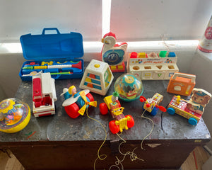 The Motherload of Vintage Fisher Price Toys