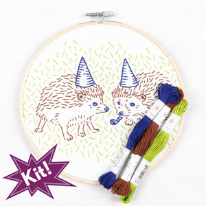 "Hedgehog Party 8"" Embroidery Kit"