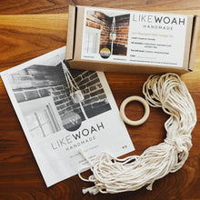 Load image into Gallery viewer, Likewoah Handmade DIY Macrame Plant Hanger Kit