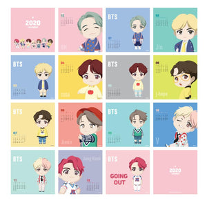 2020 Calendario de BTS Oficial-Merch-Corea Box-Corea Box