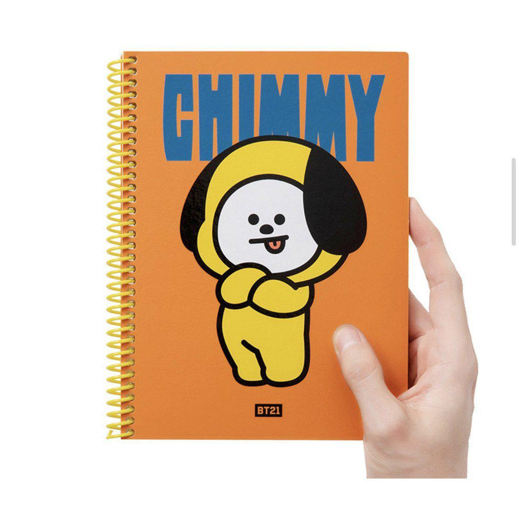Cuadernos Espiral (A5) BT21 Heart Note-Cosmética-Corea Box-Chimmy-Corea Box