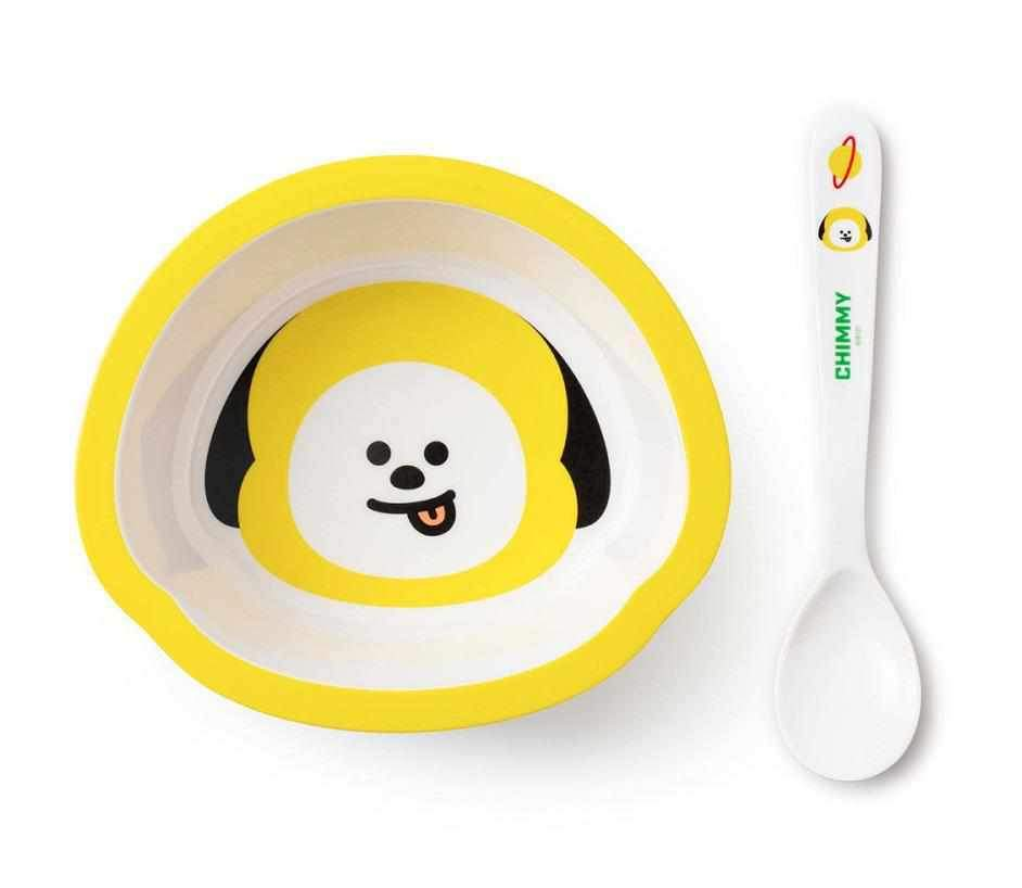 Cuencos de Cereales de BT21 + Cuchara-Deco-Corea Box-Chimmy-Corea Box