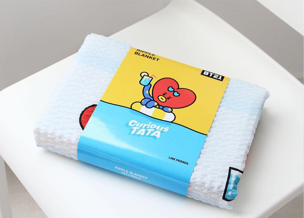 Mantita BT21 Oficial (Tata/Chimmy/Cooky/Shooky)-Merch-Corea Box-Tata-Corea Box