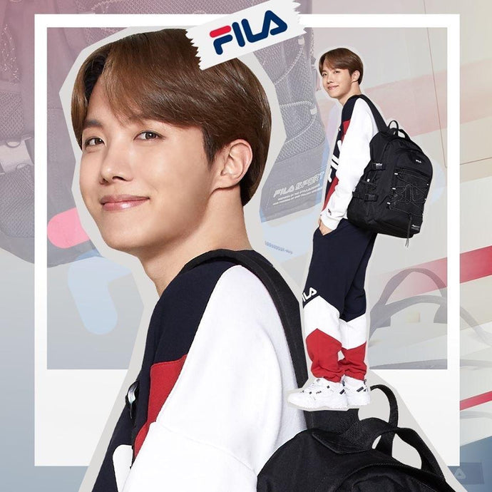 Mochilas BTS X FILA 2020 Oficiales: T-Pack J-HOPE-Merch-Corea Box-Corea Box