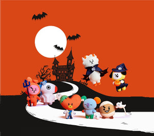 Peluches BT21 Halloween Oficiales-Merch-Corea Box-Corea Box