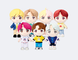 PELUCHES OFICIALES de la POP-UP de BTS-Merch-Corea Box-Corea Box