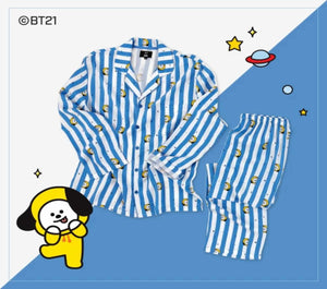 Pijamas de BT21 x Hunt Oficiales (a rayas)-Ropa-Corea Box-Chimmy-S-Corea Box