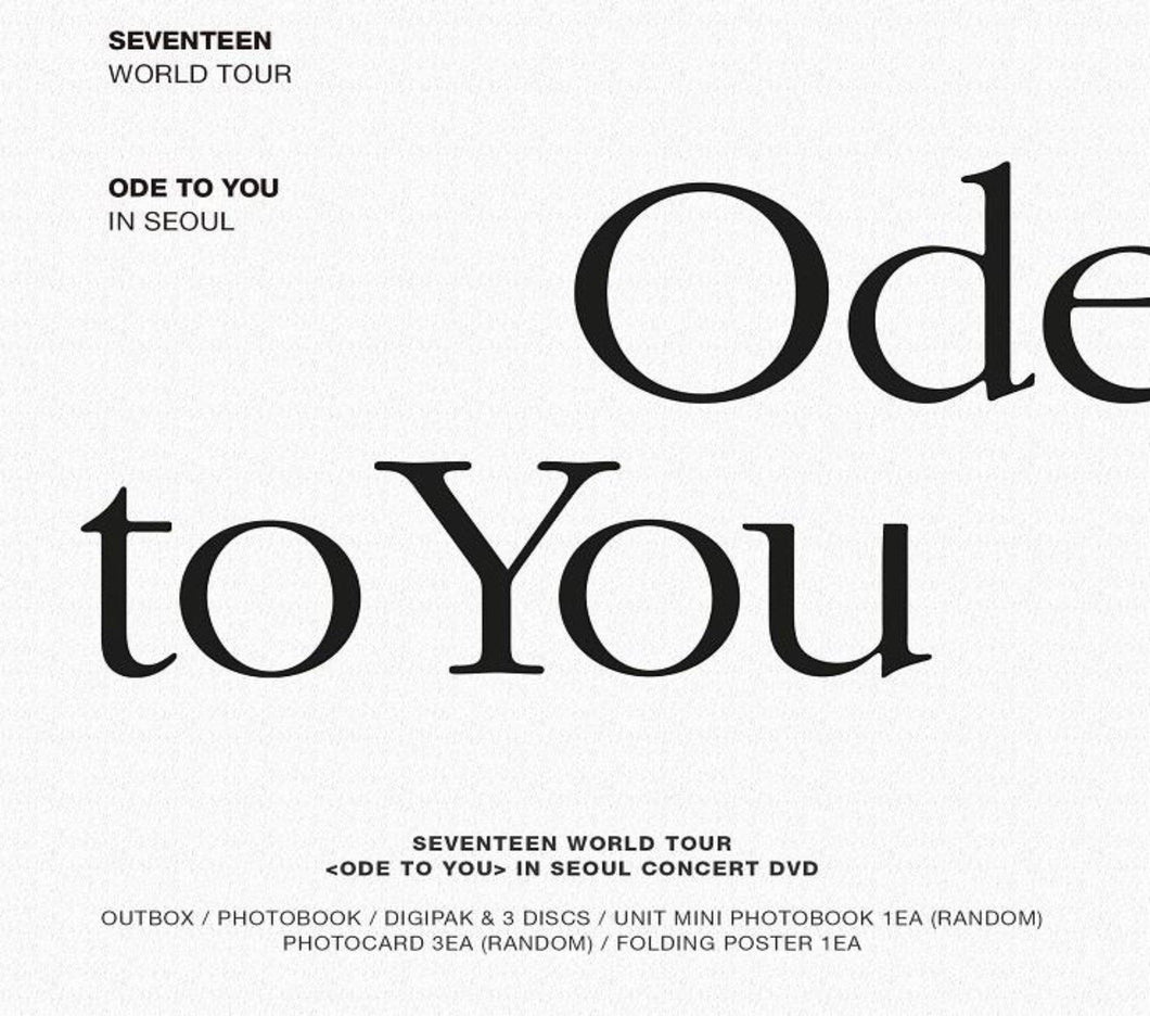SEVENTEEN WORLD TOUR Ode To You en Seúl DVD-DVD-Corea Box-Corea Box