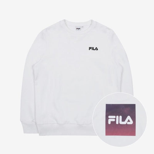 Sudaderas sin capucha BTS x FILA VOYAGER COLLECTION-Merch-Corea Box-Blanca-090-Corea Box