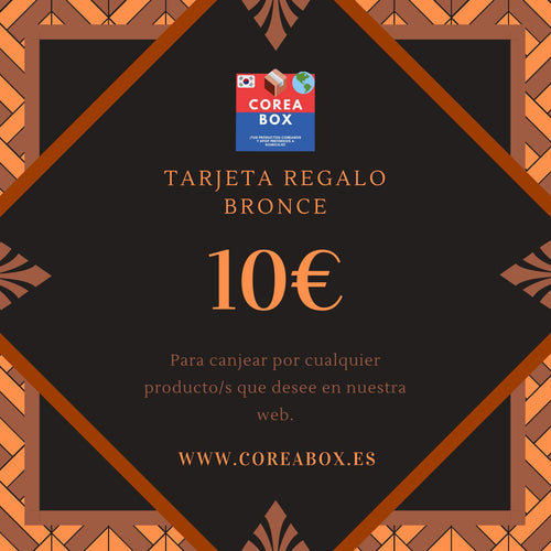 Tarjeta Regalo Coreabox BRONCE (10€)-Gift Card-Corea Box-€10-Corea Box