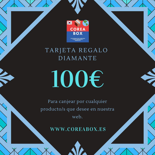 Tarjeta Regalo Coreabox DIAMANTE (100€)-Gift Card-Corea Box-€100-Corea Box