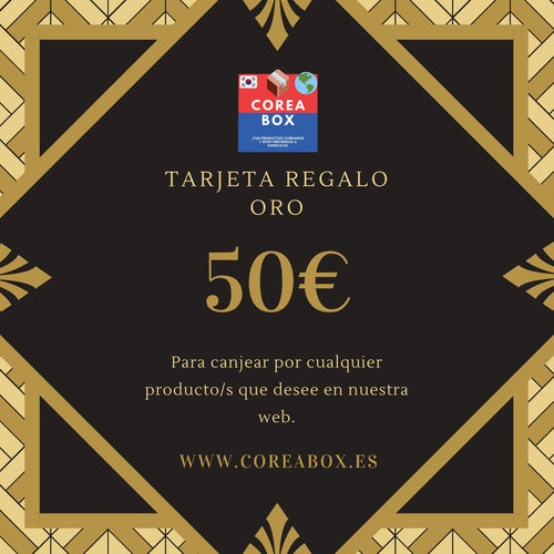 Tarjeta Regalo Coreabox ORO (50€)-Gift Card-Corea Box-€50.00-Corea Box