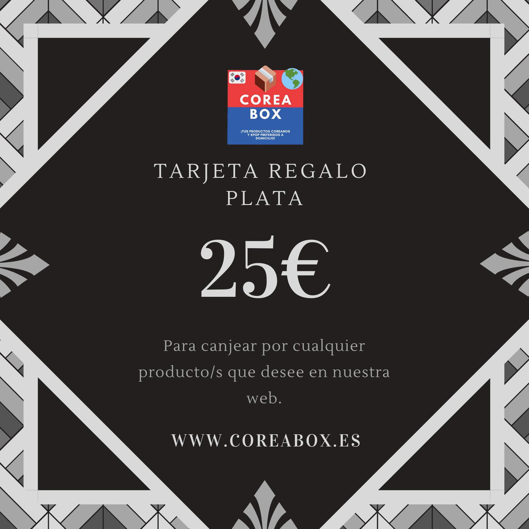 Tarjeta Regalo Coreabox PLATA (25€)-Gift Card-Corea Box-€25.00-Corea Box