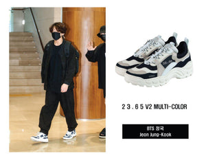 Zapatillas 23.65 V2 Multicolor de Jeon Jungkook (BTS) Oficiales-Merch-Corea Box-Corea Box