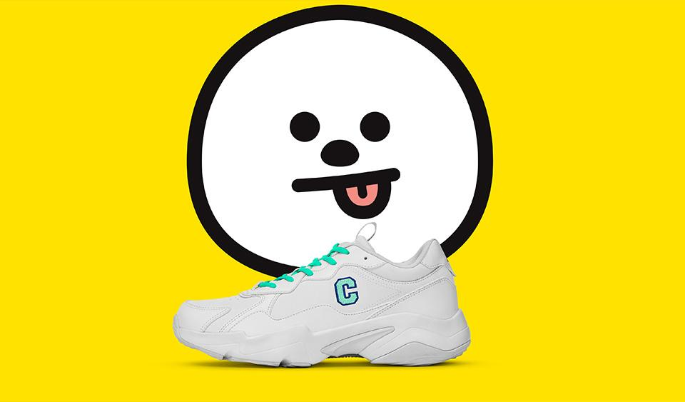 Zapatillas BT21 Reebok Oficiales TURBO IMPULSE CLEAN 2020-Ropa-Corea Box-Chimmy-34 / 225mm / 3.5-Corea Box