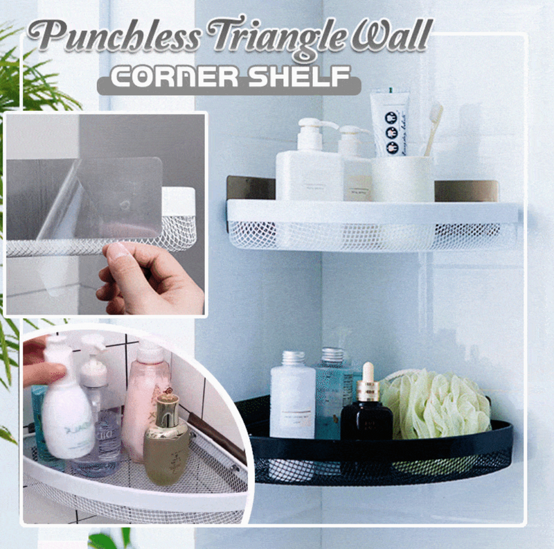 Punchless Triangle Wall Corner Shelf[FREE SHIPPING]