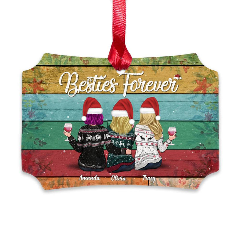 Xmas Girls Ornament- Besties Forever[FREE SHIPPING]