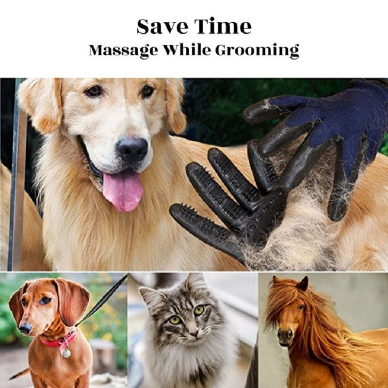 Pet Grooming Gloves Dog Cat Hair