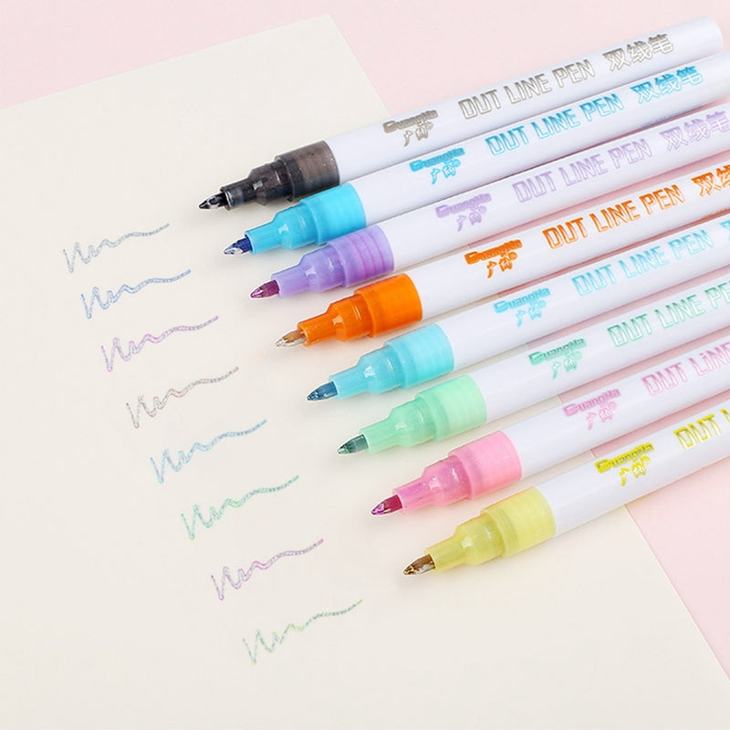 Double Line Outline Pen 【50%OFF TODAY!!!】