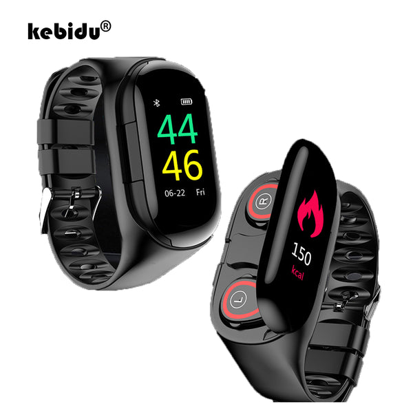 Smart Watch with Bluetooth Earbuds