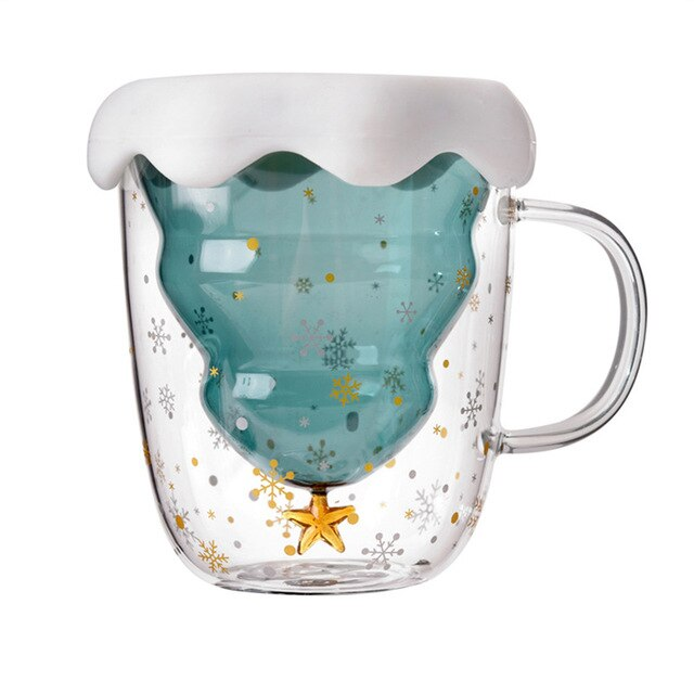Snow Globe Christmas Tree Cup