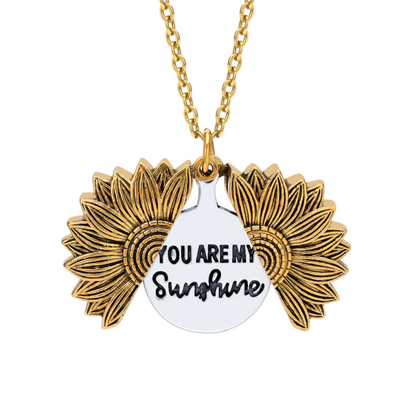 You Are My Sunshine Sunflower Necklace[FREE SHIPPING]