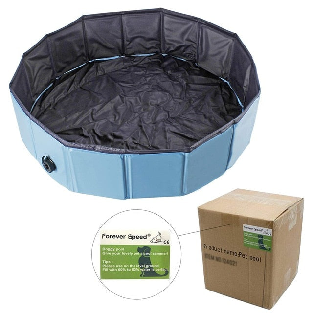 PVC Pet Swimming Pool Portable Foldable Pool Dogs Cats Bathing Tub Bathtub Wash Tub Water Pond Kiddie Foldable Pools Dog Kennels
