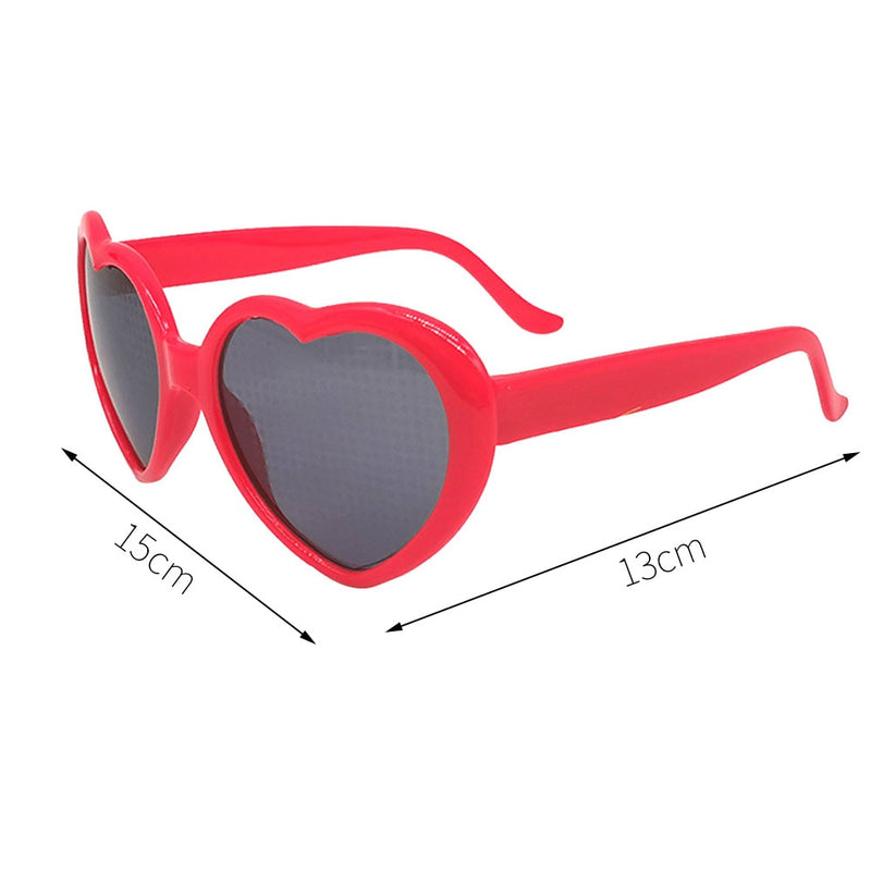 Love Heart Effect Diffraction Glasses