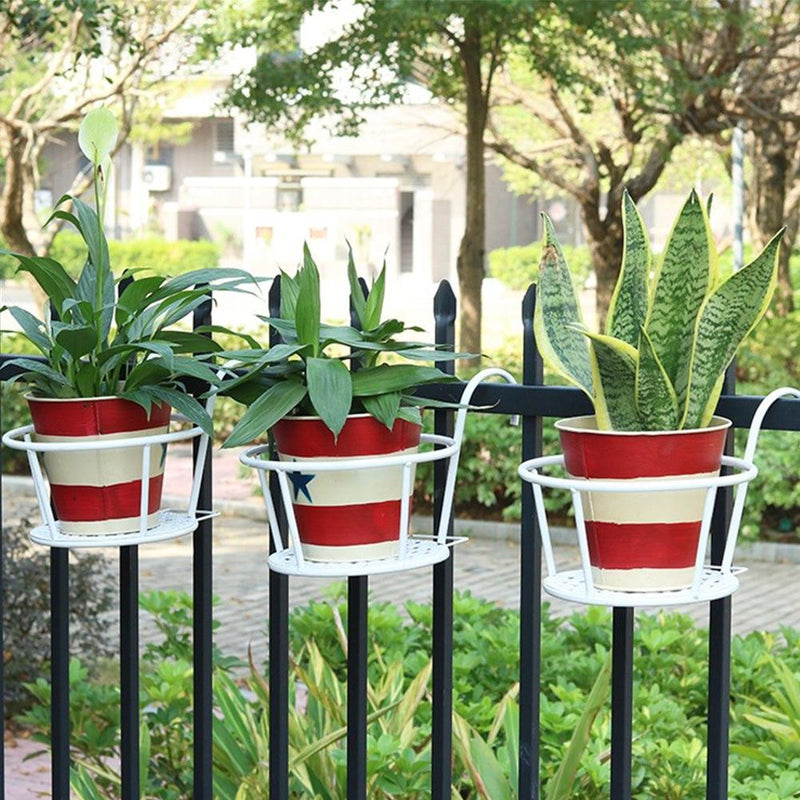 Balcony Decor European Style Railing Potted Stand[FREE SHIPPING]