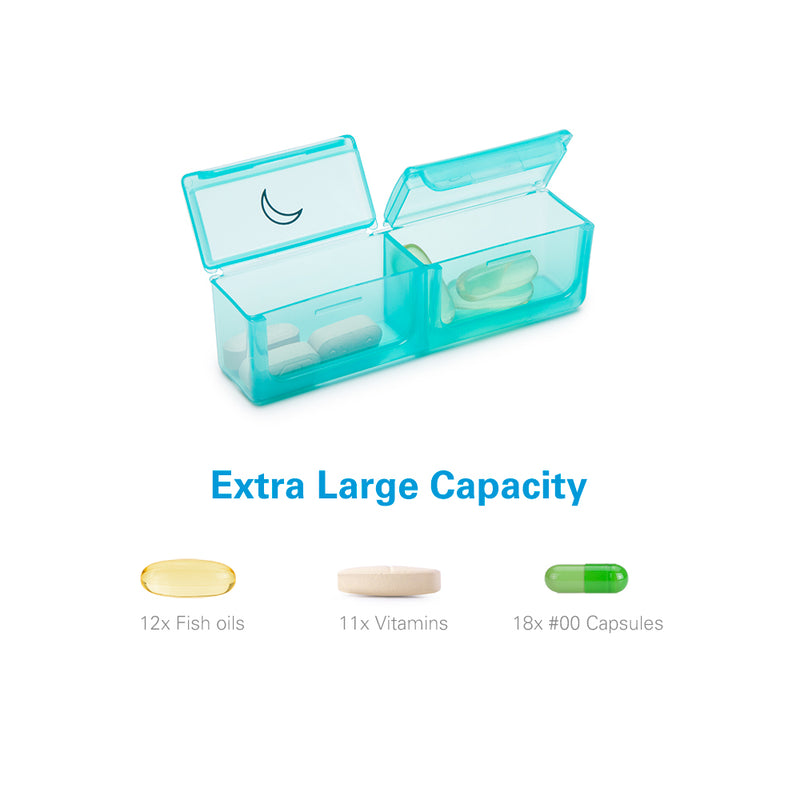 Extra Large Pill Organizer 2 Times a Day for Supplements