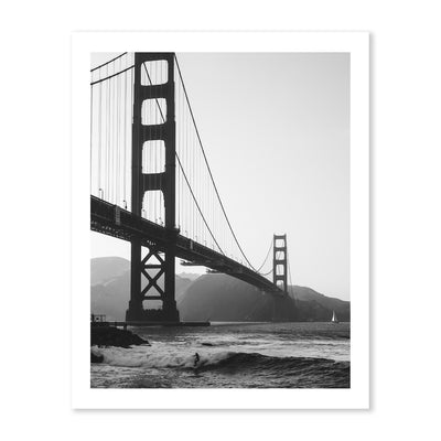B&W Surfing Under The Golden Gate - Peter Yan Studio