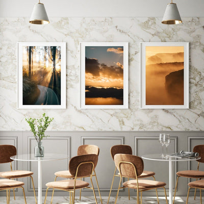 Golden Hour Magic Light Prints - Set of 3 - Peter Yan Studio