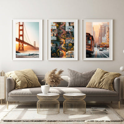 San Francisco Icons Prints - Set of 3 - Peter Yan Studio