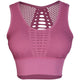 Seamless Mesh Design Push Up Yoga Bras-Leisure Sportwear