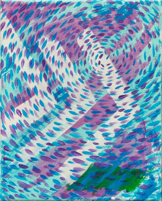 Sideways Chevron, original painting 10