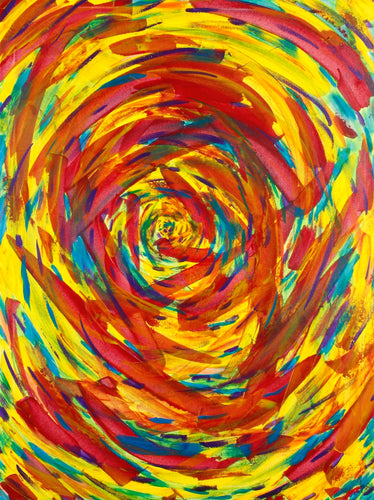 Rainbow Spiral 40in x 30in Original painting