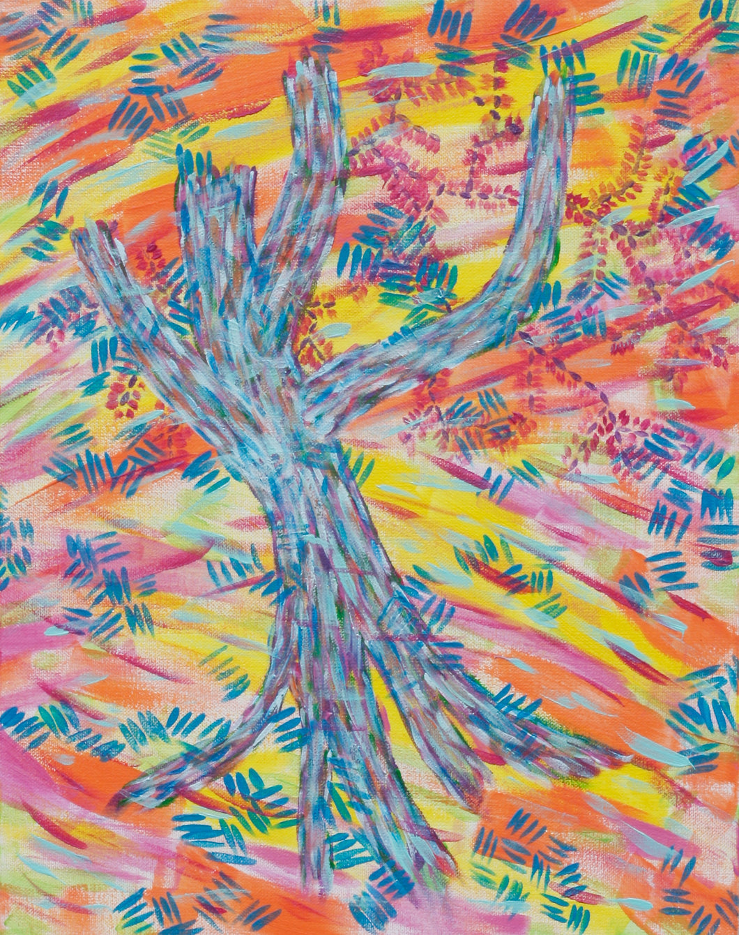 Blue Tree, original acrylic painting 18