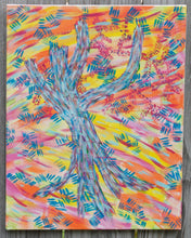 "Load image into Gallery viewer, Blue Tree, original acrylic painting 18""x14"""