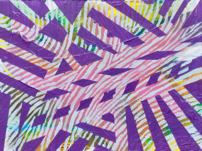 Candy Stripes, original acrylic painting 9
