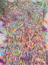 "Load image into Gallery viewer, Rainbow Torso, Original Acrylic Painting, 40"" x 30"""