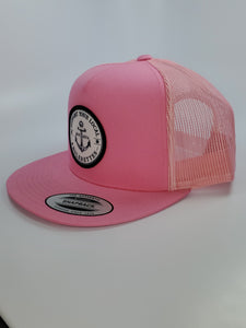 New!!! Support your Local Anglerettes Pink Flat Bill Hat