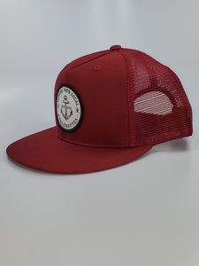 New!! Support your Local Anglerettes Maroon Flat Bill Hat