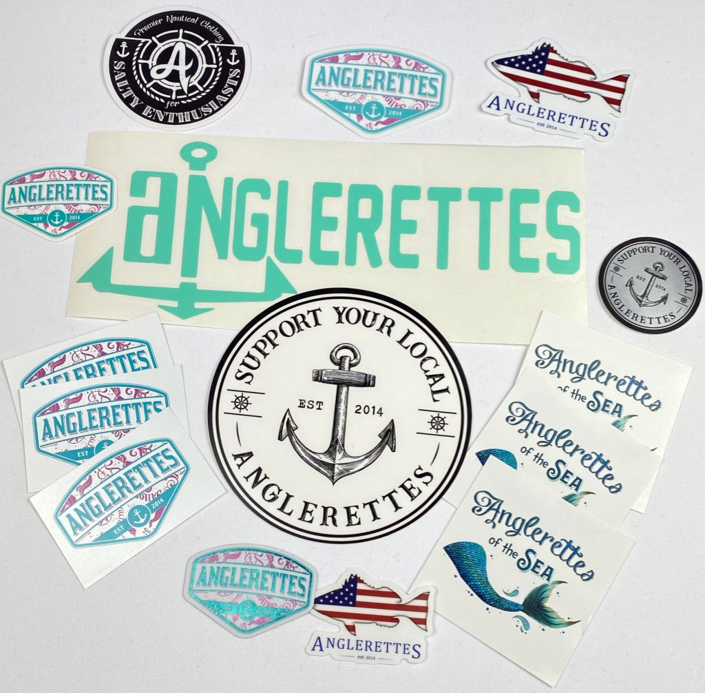 Mint Green Anchor Anglerettes Sticker Pack