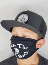 Load image into Gallery viewer, Kids Black Face Mask (Stay The Fuck Back)