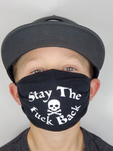Load image into Gallery viewer, Adults Black Face Mask with (Stay the fuck back)
