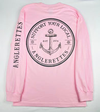Load image into Gallery viewer, NEW!! Support Your Local Anglerettes Light PInk Long Sleeve