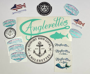 Mint Green Anglerettes Sticker Pack