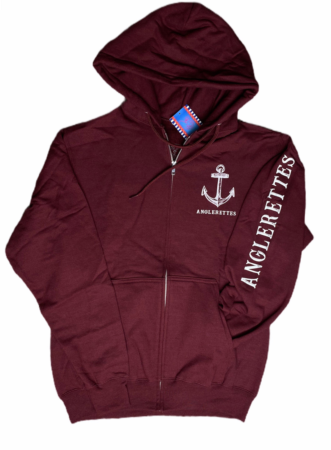 New Support Your Local Anglerettes Zip Up Jacket