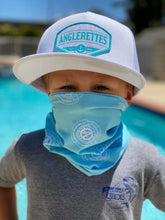Load image into Gallery viewer, Kids face shield with Anglerettes logo
